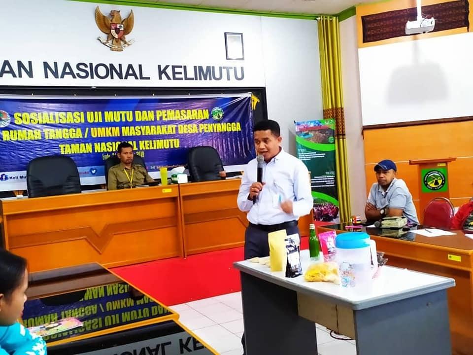 Sosialisasi Upaya Peningkatan Mutu Dan Pemasaran Produksi UMKM Masyarakat Desa Penyangga TN Kelimutu