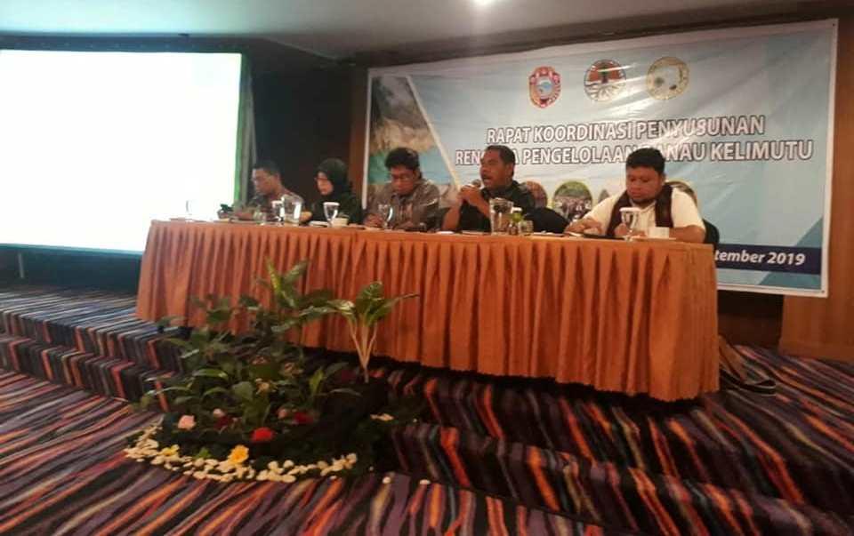 Balai TN Kelimutu Mengikuti Rapat Koordinasi Penyusunan Rencana Pengelolaan (RP) Danau Kelimutu