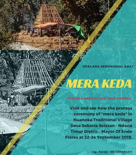 Upacara Seremonial Adat Mera Keda Desa Sokoria Selatan <br/>.