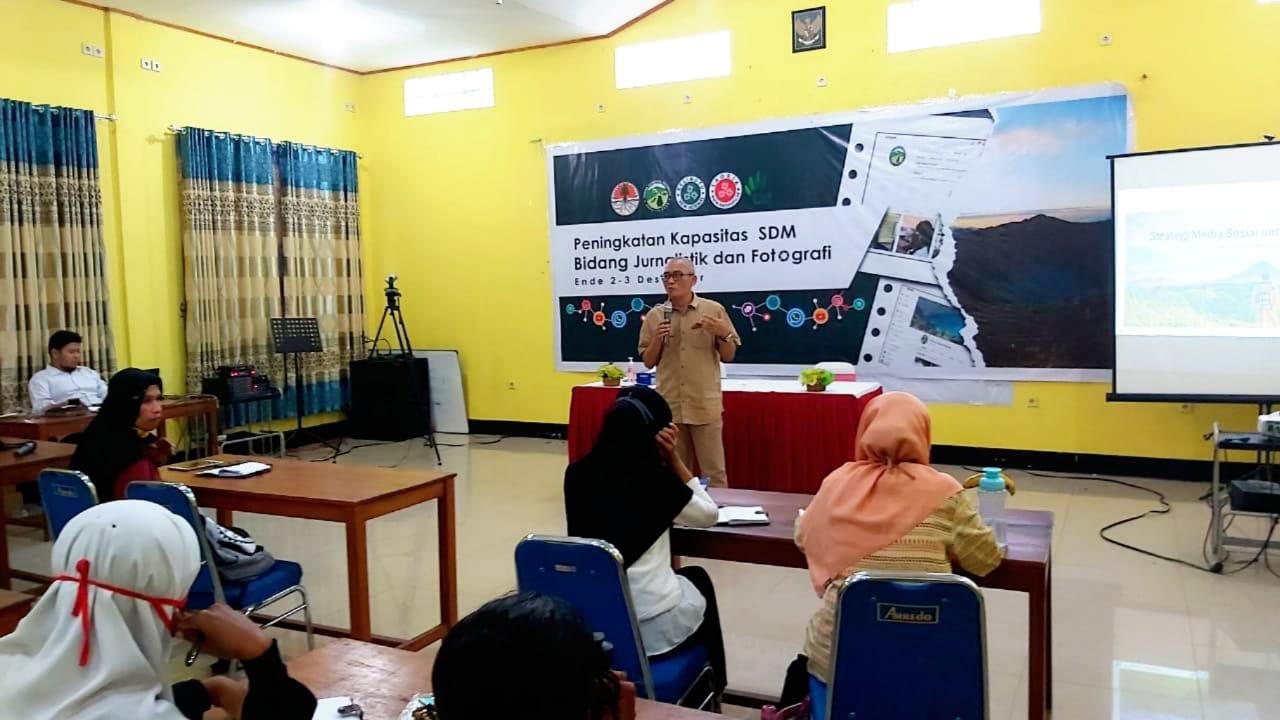 Balai TN Kelimutu Belajar Mengelola Publikasi Media Sosial